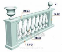 Балясина из пенополистирола ТМ Фасад Декор БЛ-2 800мм