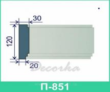 Межэтажная разделительная полоса ТМ Фасад Декор П-851 2м.