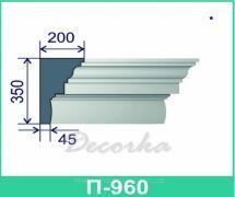 Карниз фасадный ТМ Фасад Декор П-960 2м.