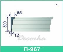 Карниз фасадный ТМ Фасад Декор П-967 2м.