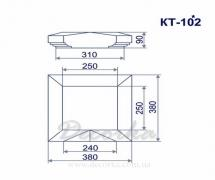 Крышка столба из пенополистирола ТМ Фасад Декор КТ-102