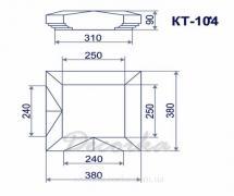 Крышка столба из пенополистирола ТМ Фасад Декор КТ-104