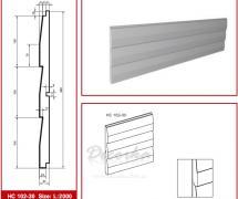 Накладная панель Prestige Decor HC-102-30 2м