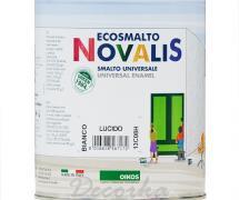 Эмаль Oikos Novalis Smalto Universale глянцевая, белая 0,75л