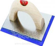Терка с резиновой губкой 250х110мм Pavan 865 (art. 1816506)