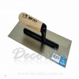 Кельма из нержавеющей стали для декоративных работ (первый слой) 280X120мм COME 310IN (art. 310IN)